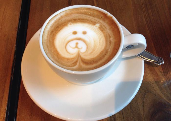 Lächelnder Kaffee