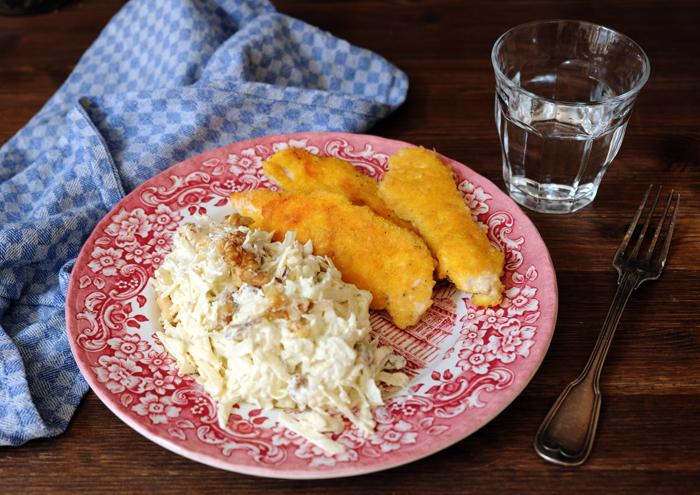 Waldorfsalat mit knusprigem Hühnchen – New York Spezial