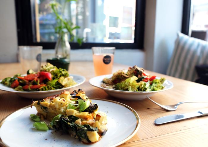 Quiches mit Salat