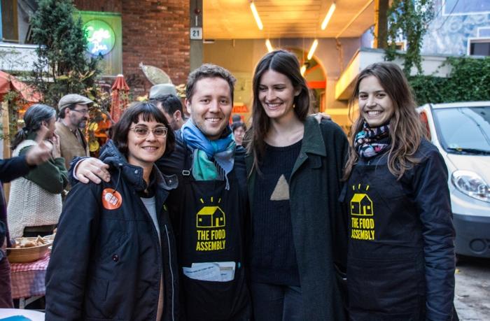 Das Food Assembly Team - Veronica, Yatan, Theresa, Laure