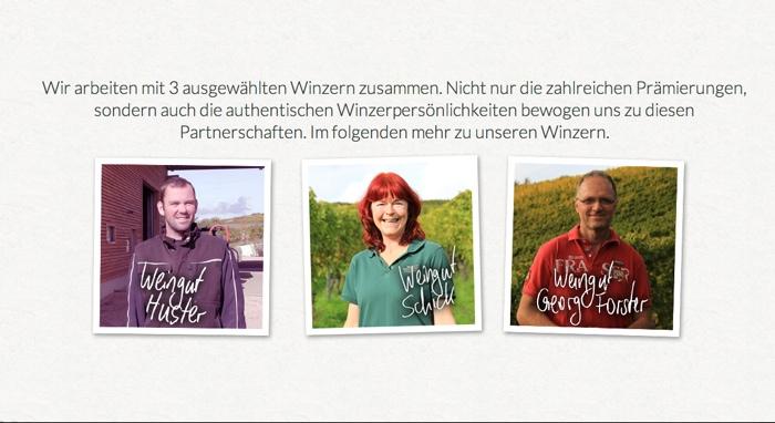 Die Winzer, die den Wein der Grünen Weinbox herstellen
