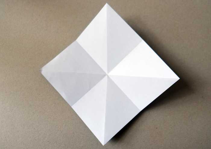 4. once each fold and unfold in the middle
