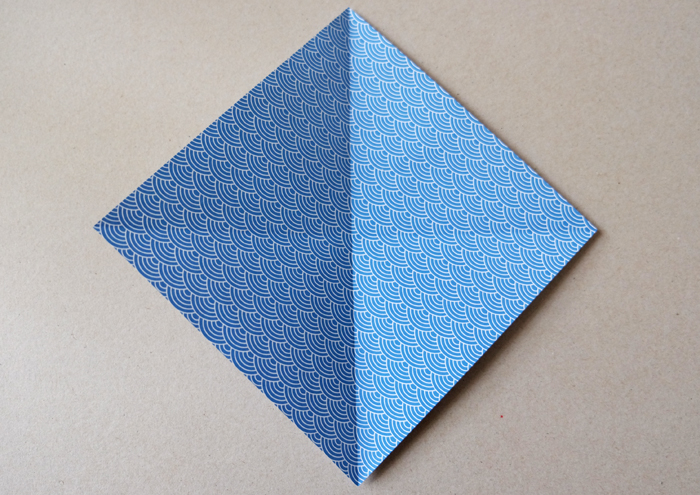 2. Diagonal fold and unfold again