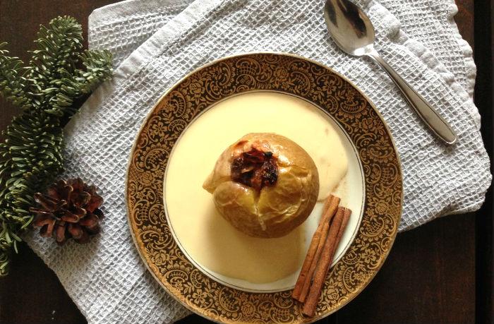 Winterlicher Bratapfel – ganz einfach und schön leicht