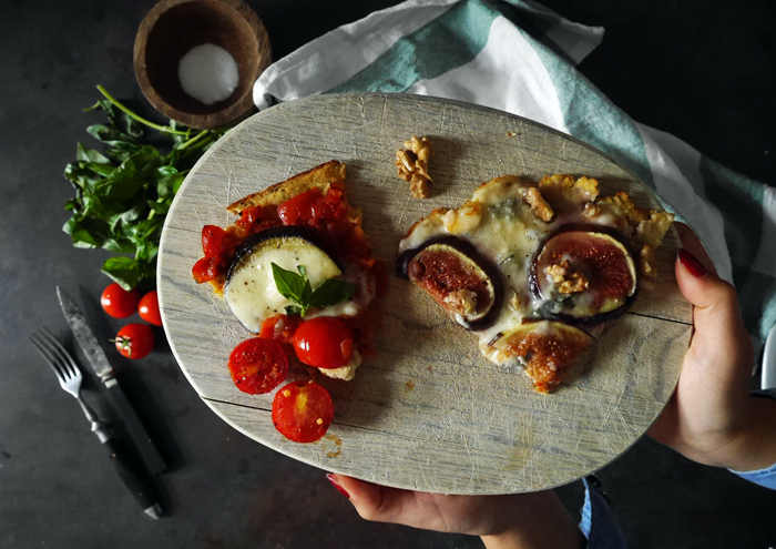Guten Appetit mit zweierlei Gemüse-Pizza