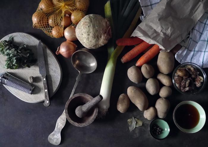 Die Zutaten für die Suppe