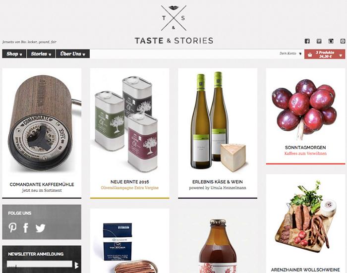 Fraeuleinchen testet: Shopmagazin Taste & Stories