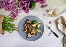 Sonntagsgericht: Gegrillte Kalmare mit Spargel und Fenchel