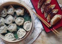 Sonntagsgericht: Zweierlei Dumplings – mit Rindfleisch und vegetarisch