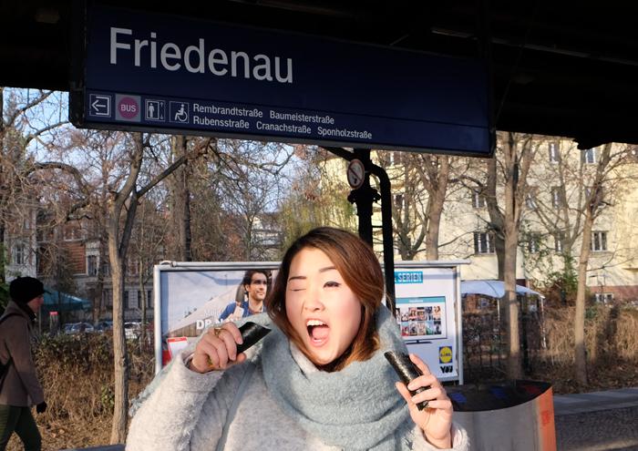 Yay! Koreanische Handrolle verspeisen und auf die S-Bahn warten