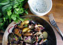 Sonntagsgericht: Frische Kartoffelpfanne mit Oktopus