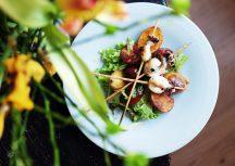 Sonntagsgericht: Tequila marinierter Sepia mit Salatbett