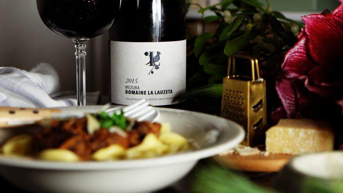Adventsgericht: Ragout mit Pasta zu Rotwein aus dem Languedoc
