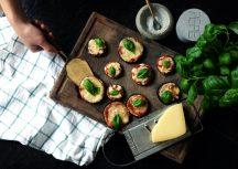 Sonntagsgericht: schnelle Auberginenpizzette als Vorspeise