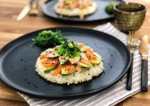 Sonntagsgericht – Sushi Pizza mit Lachs und Avocado