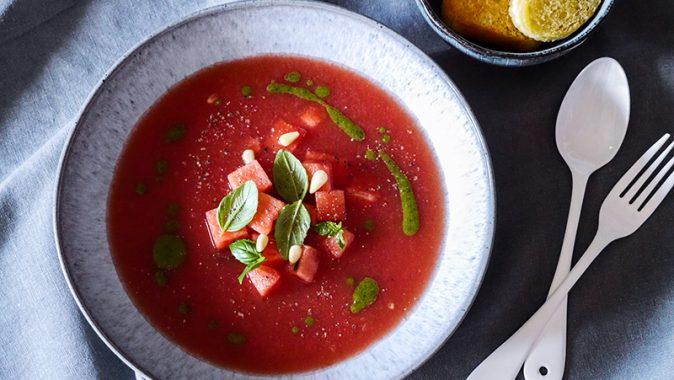 Sonntagsrezept – erfrischende Wassermelonen Gazpacho