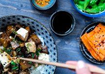 Sonntagsgericht: Donburi mit Tofu und Auberginen