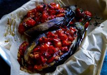 Sonntagsgericht – gefüllte Auberginen aus dem Ofen